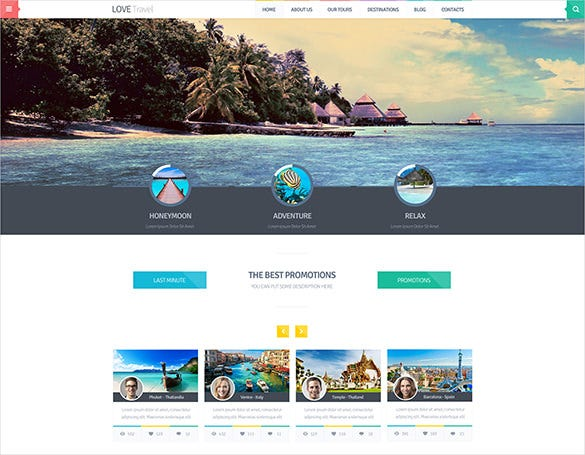 fine travel psd theme