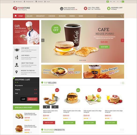 pav food store responsive opencart theme