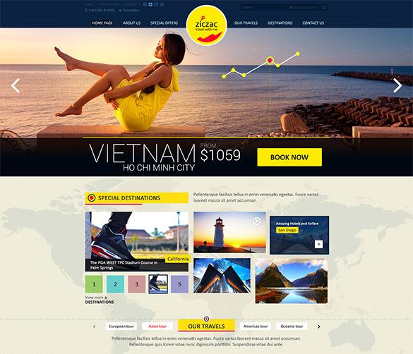 online travel psd template