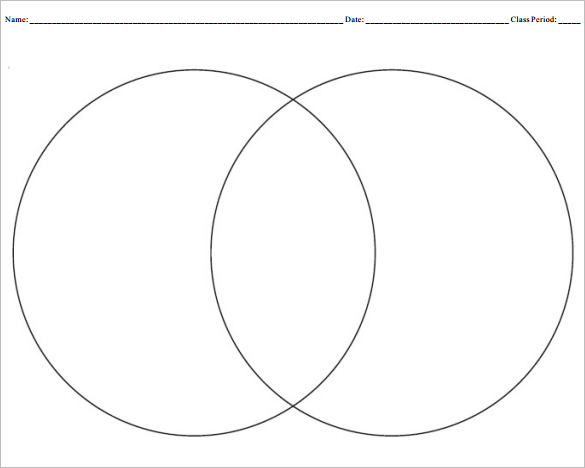 photograph regarding Venn Diagram Printable Free identified as 9+ Blank Venn Diagram Templates - PDF, Document No cost High quality