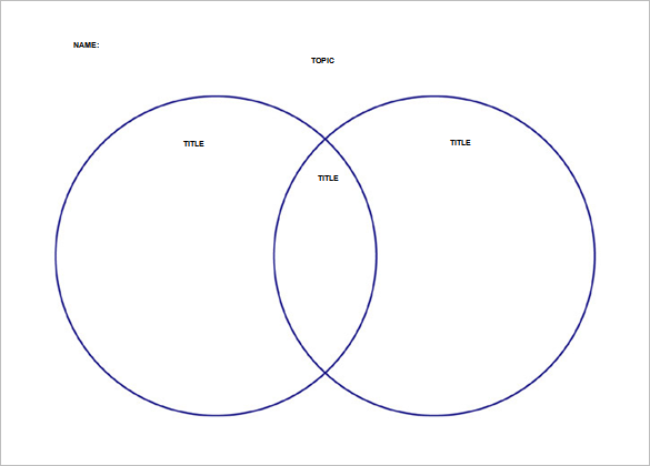 2 Circle Venn Diagram Template Word Doc