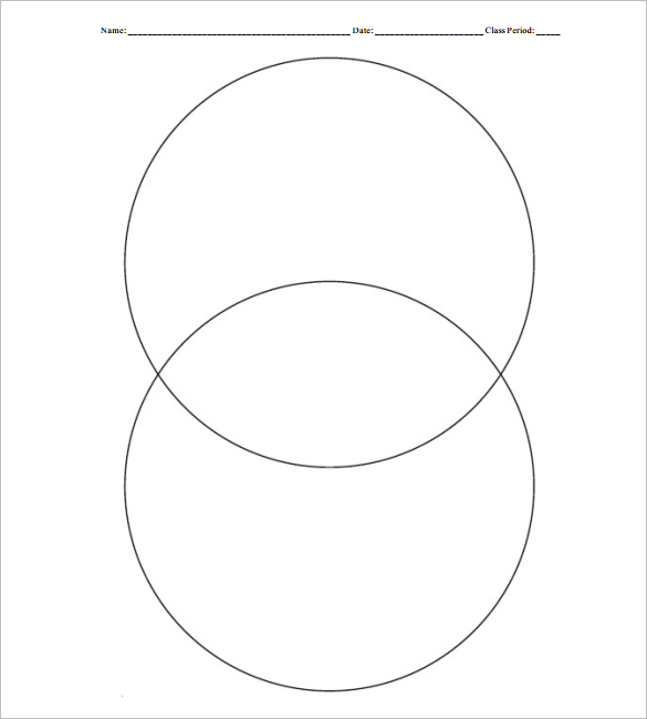 blank vertical venn diagram for school