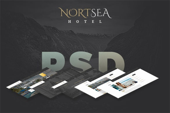 simple travel psd template