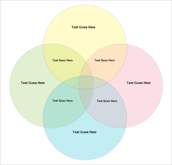 free download 4 circle venn diagram template