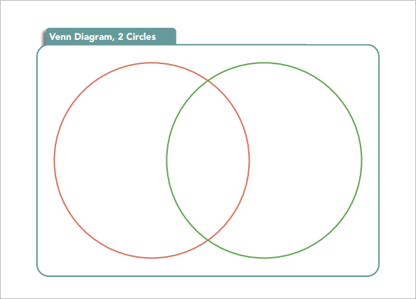 blank colorful venn 2 circles diagram download