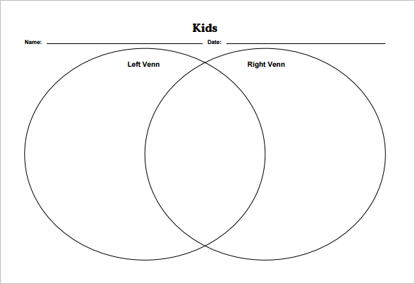 picture about Venn Diagram Printable Free titled 9+ Blank Venn Diagram Templates - PDF, Document Totally free Quality