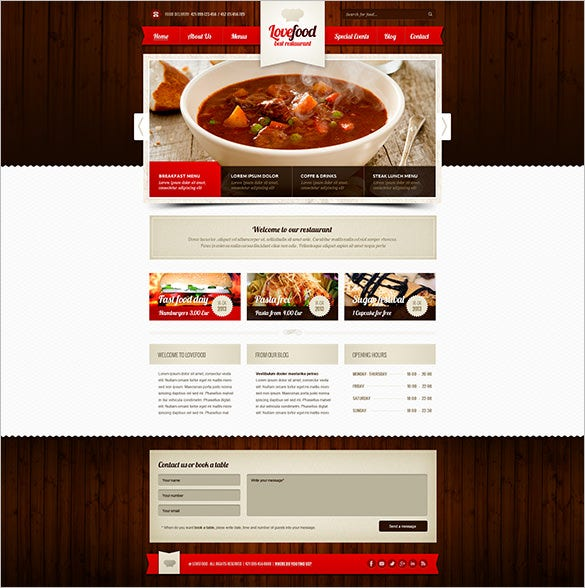 lovefood cottage accommodation psd theme