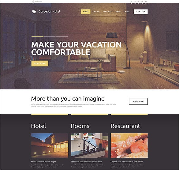 hotels responsive wordpress theme download