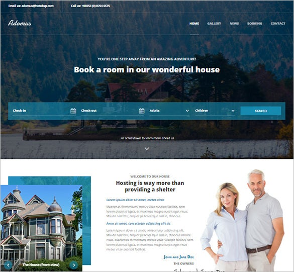 adomus hotel wordpress theme