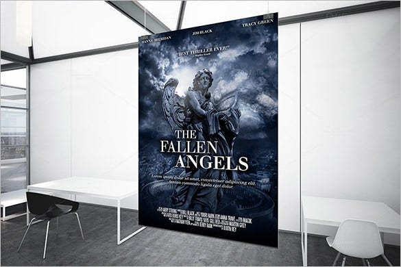 a3 movie poster print template