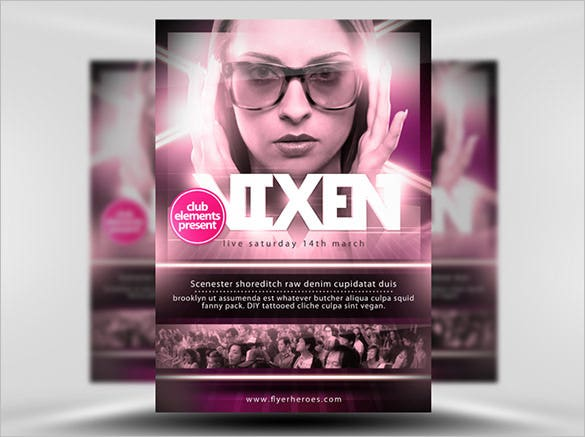 vixen free a3 poster template