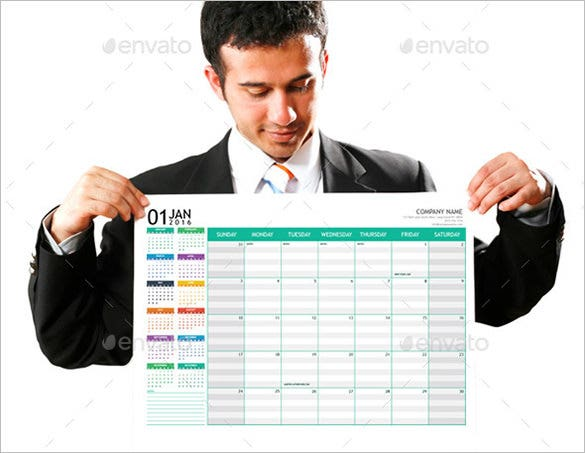 monthly planner 2016 a3 poster