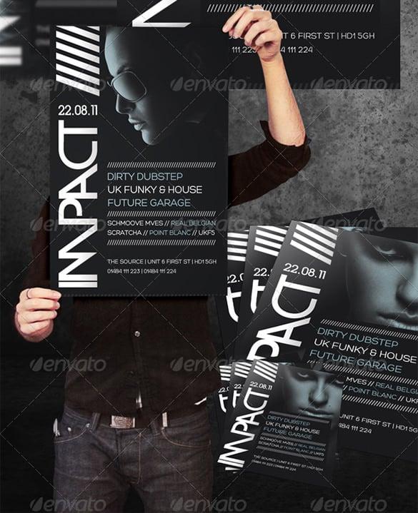impact a3 poster a5 flyer