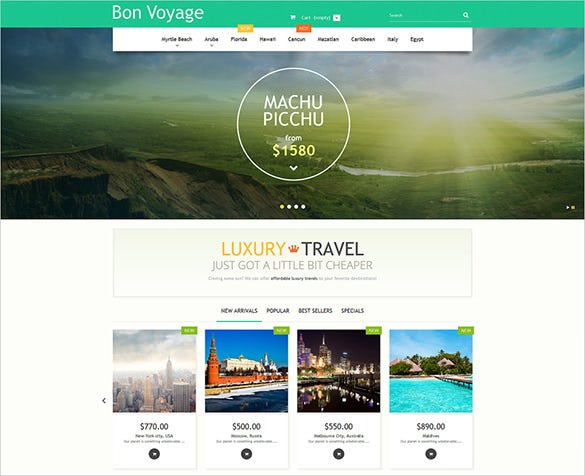 luxury travel prestashop blog template