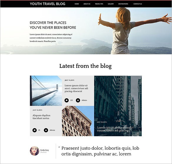 youth travel blog theme