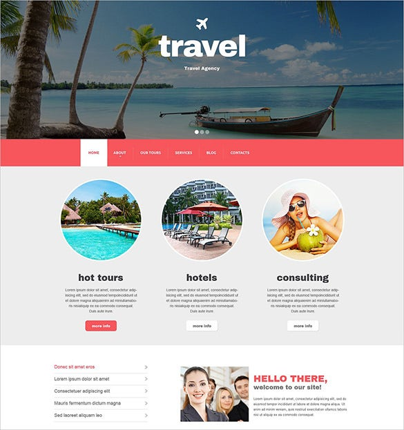 travel agency blog theme
