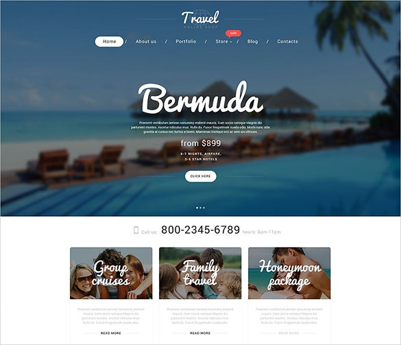 vacation agency woocommerce psd theme