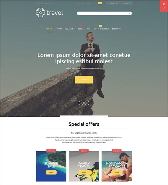 travel magentotemplate