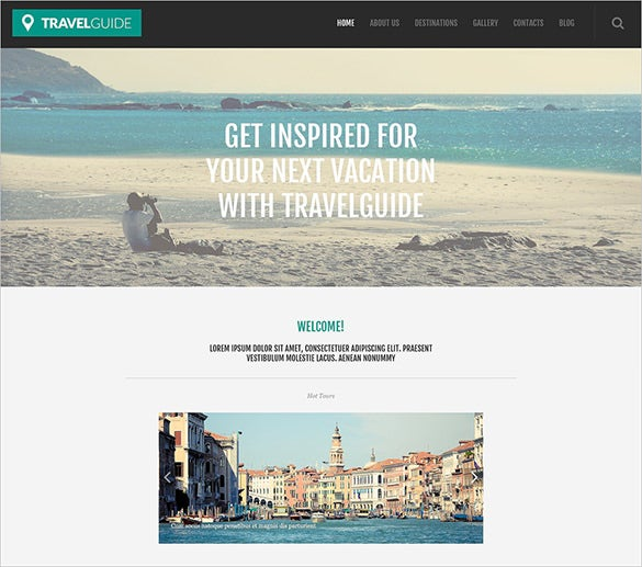 travel guide blog template