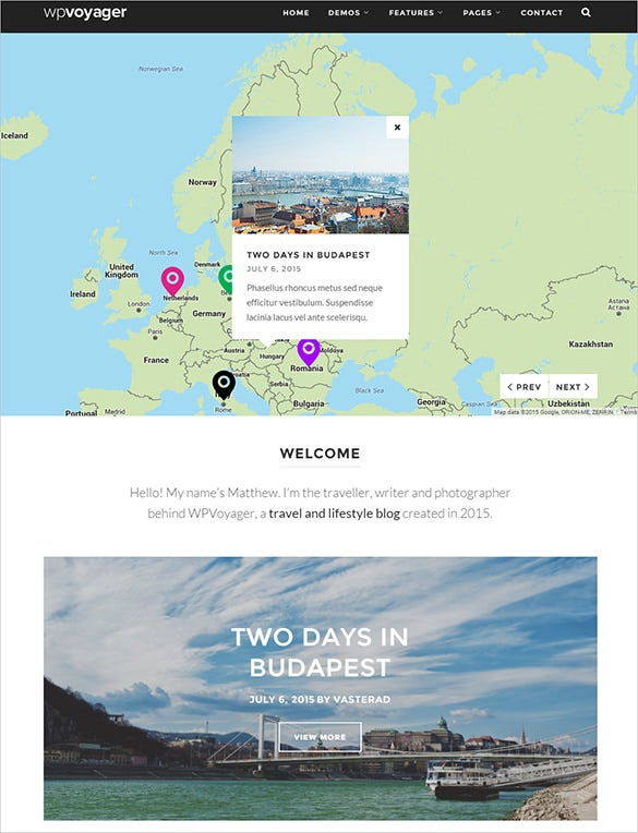 slendid travel wordpress blog template