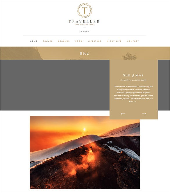 traveller blog theme