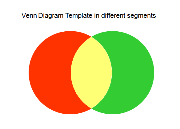 2 circle venn diagram template ppt free download
