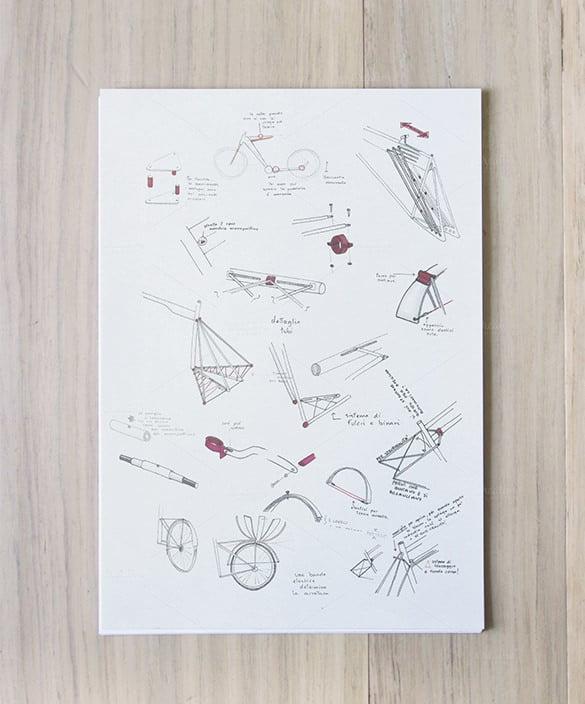 sketch a4 vertical paper mockup1