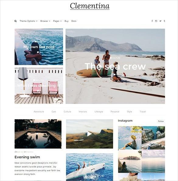 pretty travel blog theme
