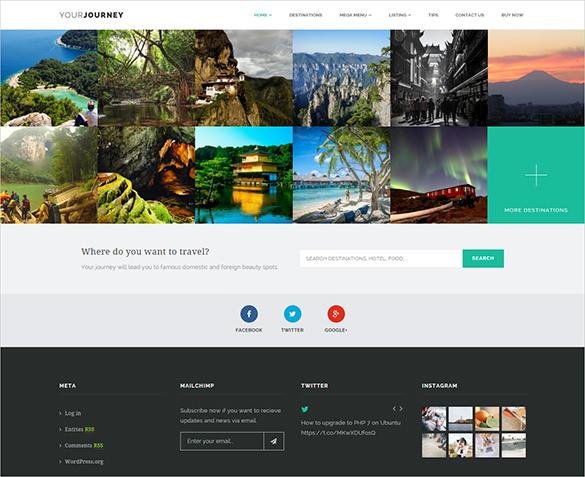 journey travel blog template