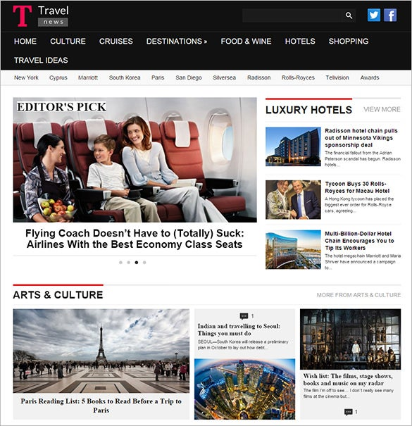 travel news magazine blog theme