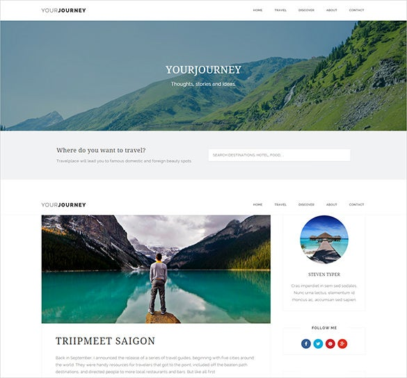 standard travel ghost blog template
