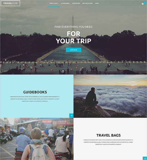travel shop php template