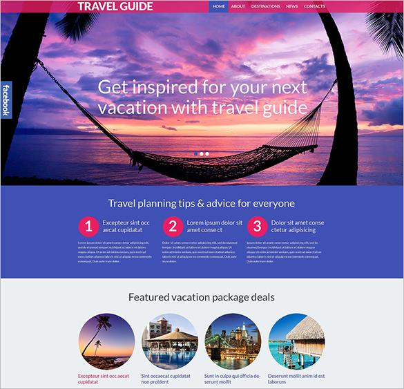 responsive travel guide wordpress template