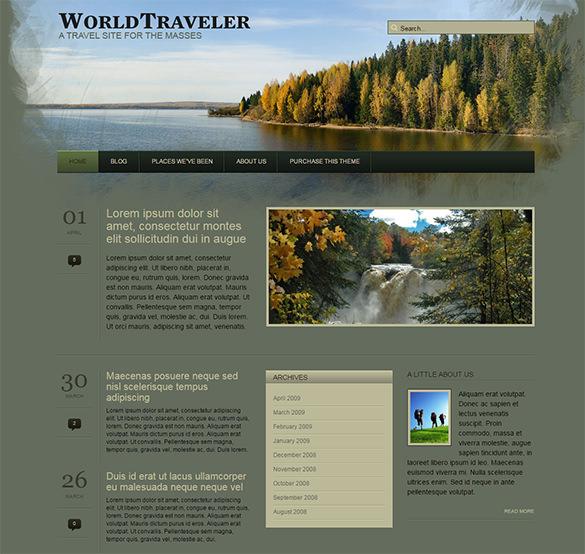 world traveller wordpress template