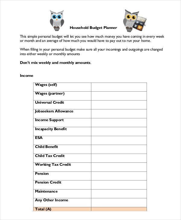 Household Budget Template - 9+ Free Sample, Example, Format | Free