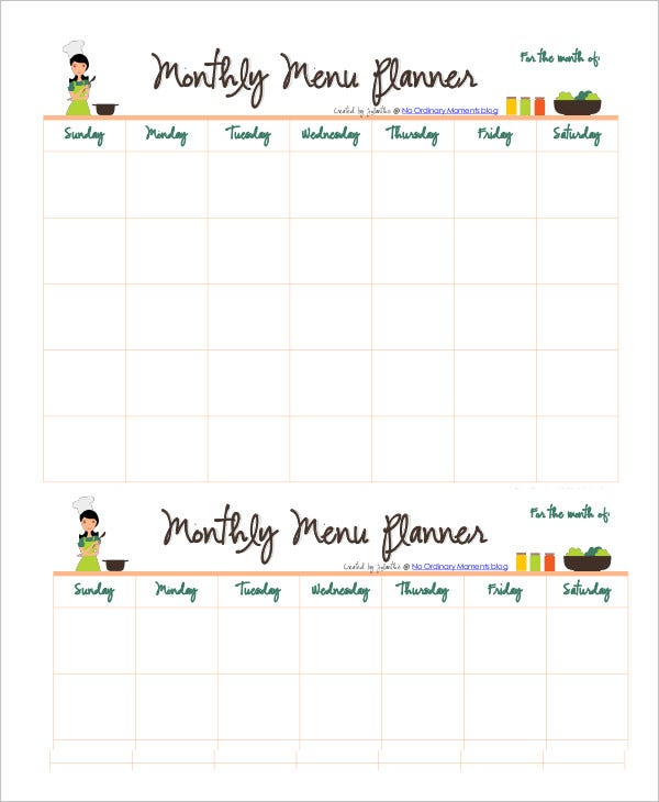 monthly-menu-planner-template