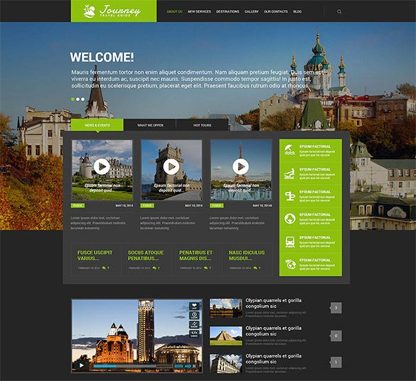 responsive travel guide wordpress template1