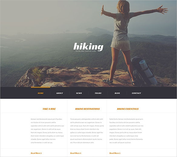 camping responsive travel wordpress theme