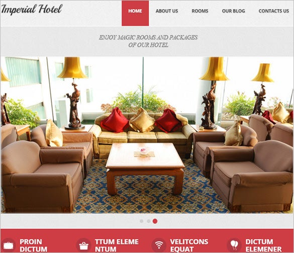 fantastic hotel drupal template for you