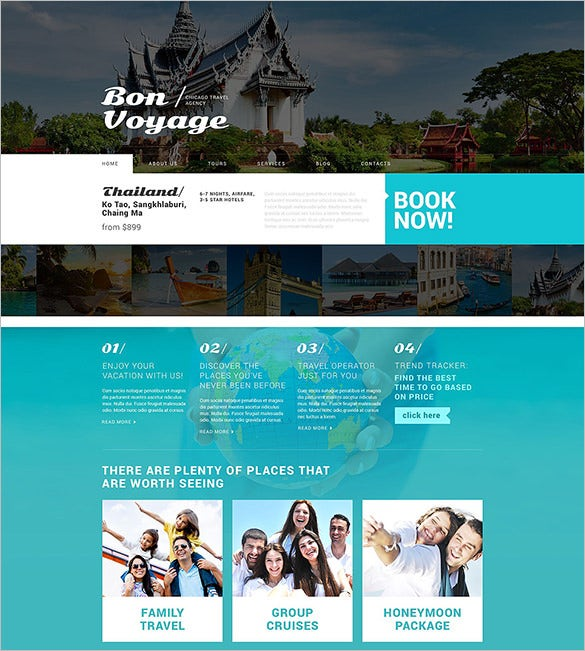 travel operator services wordpress theme