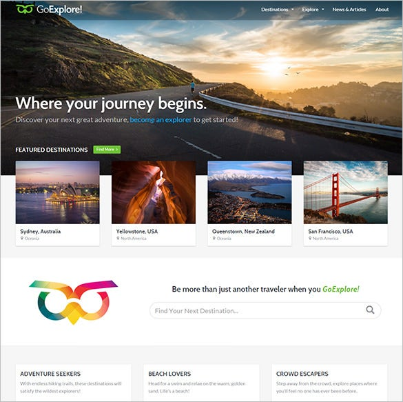 beautiful travel wordpress theme