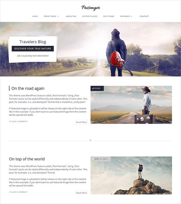 travelers wordpress template
