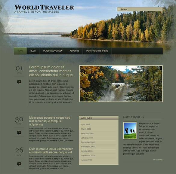 world traveller wordpress template1