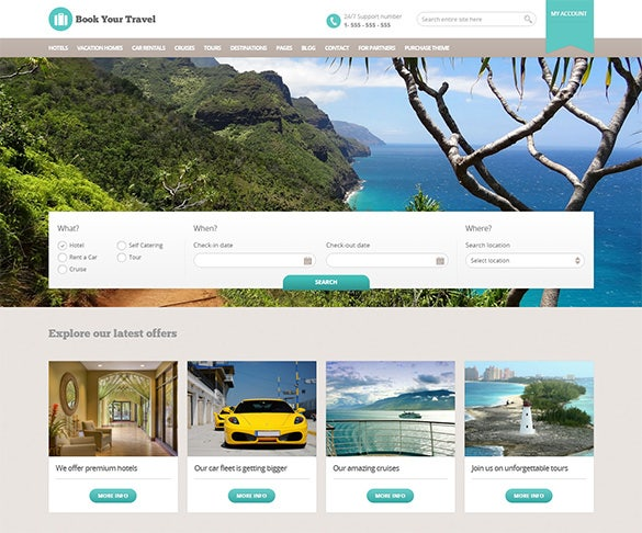 online booking travel wordpress template