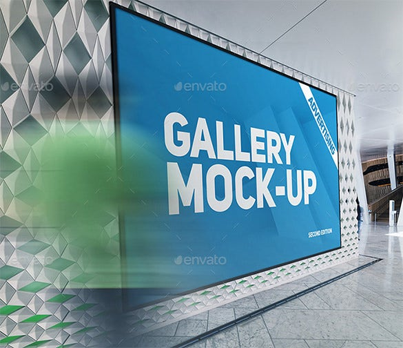 gallery poster mock up