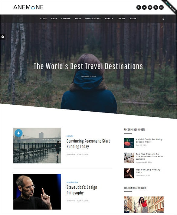 travel magazine wordpress template