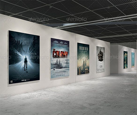 gallery poster mockups photoshop psd