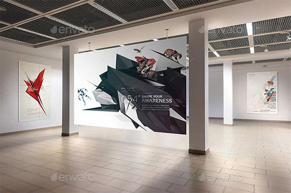 gallery poster mock up bundle