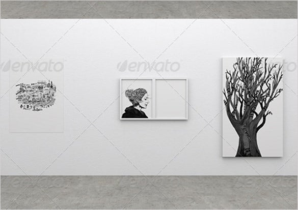 gallery poster mock up 3