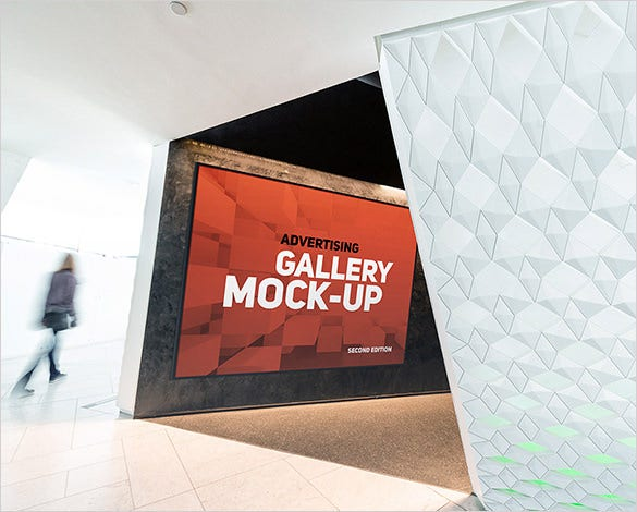 gallery poster mock up psd